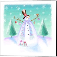 Framed Holiday Snowman
