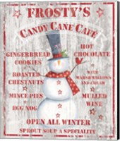 Framed Frosty's Candy Cane Cafe