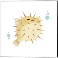 Framed Sea Creatures - Pufferfish