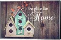 Framed No Place Like Home Bird Houses