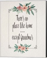 Framed There's No Place Like Home Except Grandma's Pink Flowers