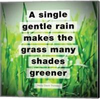 Framed Single Gentle Rain - Henry Thoreau Quote (Vibrant)