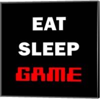 Framed Eat Sleep Game - Black