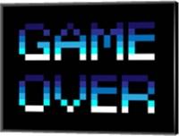 Framed Game Over  - Blue