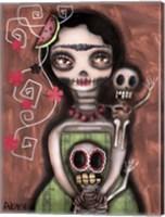 Framed Frida Day Of The Dead