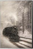 Framed Snowy Locomotive