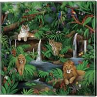Framed Paradise Jungle
