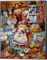 Framed Kitty Kitchen Witch 2
