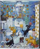 Framed More Bathroom Pups