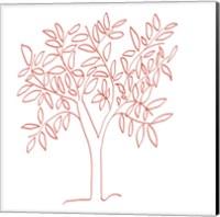 Framed Tangerine Tree