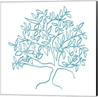 Framed Teal Tree