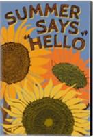 Framed Summer Says Hello