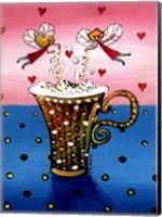 Framed Cappuccino Fairies