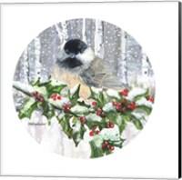 Framed Winter Wonder Chickadee