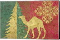Framed Xmas Tree and Camel