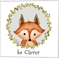 Framed Be Clever Fox