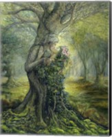 Framed Dryad And The Tree Spirit