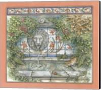 Framed Lion fountain
