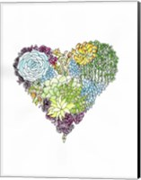 Framed Watercolor Botanical Heart