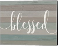 Framed Rustic Blessed Script