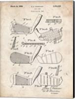Framed Golf Club Patent - Vintage Parchment