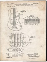 Framed Electric Guitar Patent - Vintage Parchment