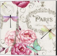 Framed Paris Flower Market Pattern