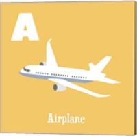 Framed Transportation Alphabet - A is for Airplane