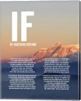 Framed If by Rudyard Kipling - Mountain Sunset