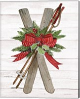 Framed Holiday Sports IV on White Wood