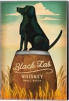 Framed Black Lab Whiskey