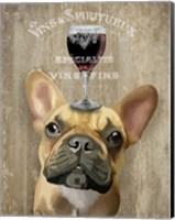Framed Dog Au Vin, French Bulldog