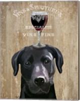 Framed Dog Au Vin, Black Labrador