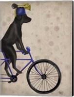 Framed Black Labrador on Bicycle