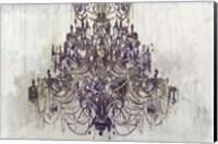 Framed Plum Chandelier on White