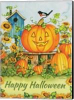 Framed Halloween Pumpkins Happy Halloween