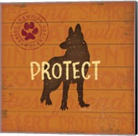 Framed Protect Dog