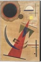 Framed Pointed Red Shape, 1925