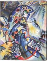 Framed Blue Comb, 1917