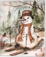 Framed Country Snowman IV