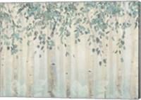 Framed Dream Forest I Silver Leaves