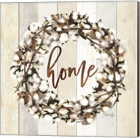 Framed Home Cotton Wreath