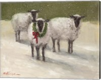 Framed Lambs with Wreath
