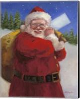 Framed Santa with a Sack