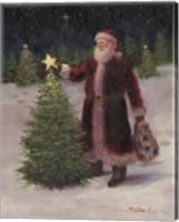 Framed Santa with Stars