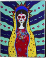 Framed Virgin Guadalupe Dia De Los Muertos