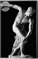Framed Classical Nude Figure Discus Thrower
