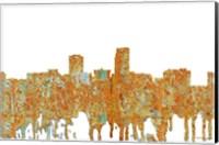 Framed Omaha Nebraska Skyline - Rust