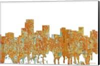 Framed Parsippany New Jersey Skyline - Rust