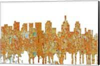 Framed Philadelphia Skyline - Rust